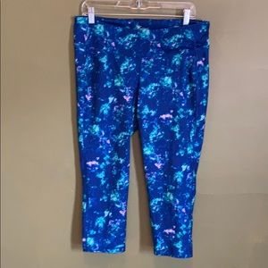 Old navy blue active leggings xl